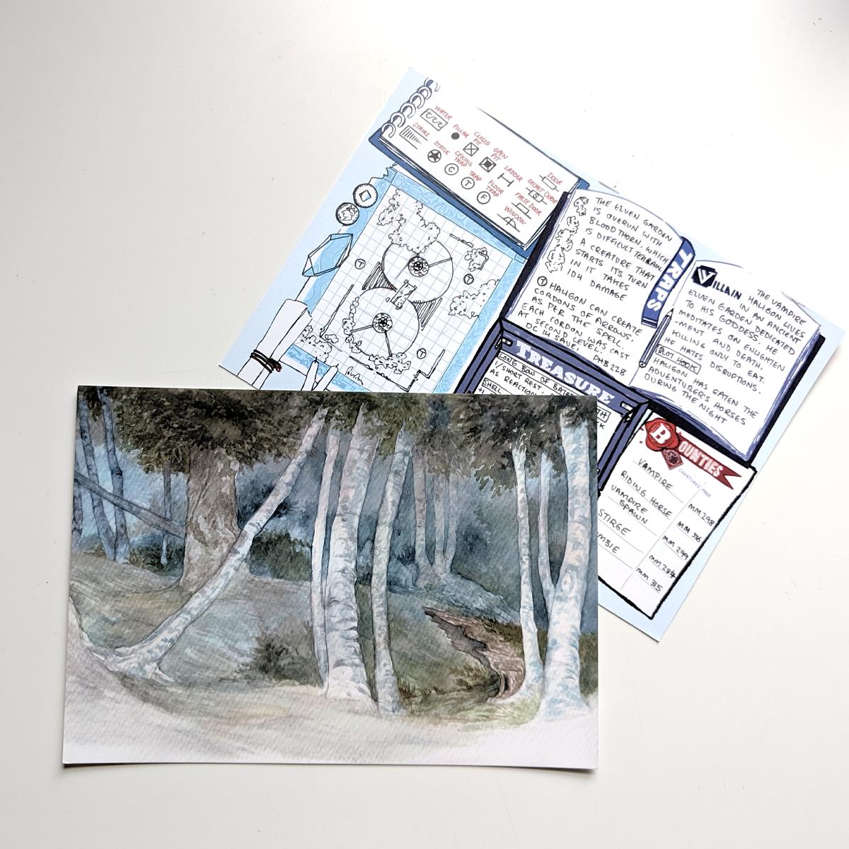 Postcard - Forest