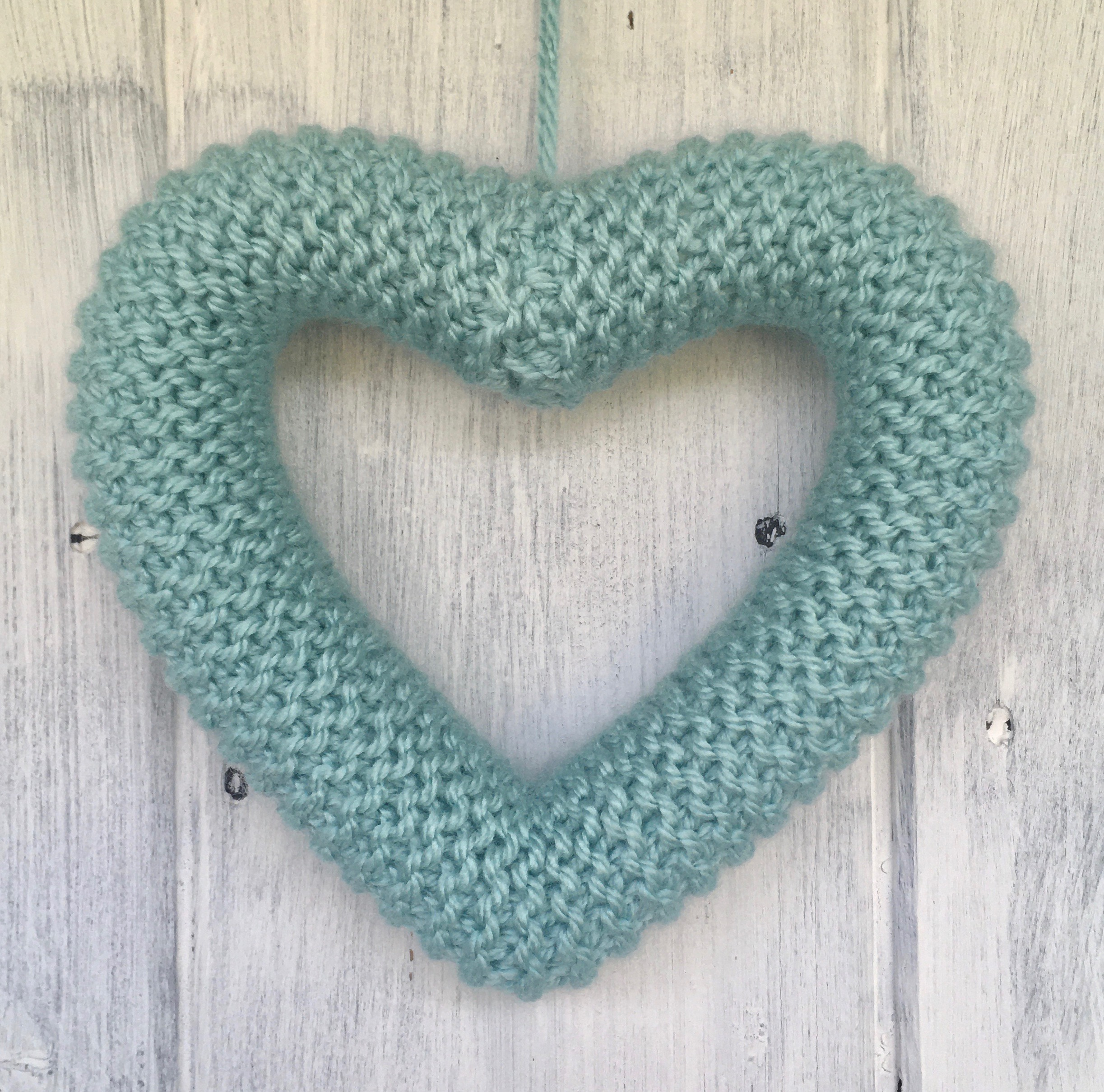 A Plain Knitted Heart in choice of colours