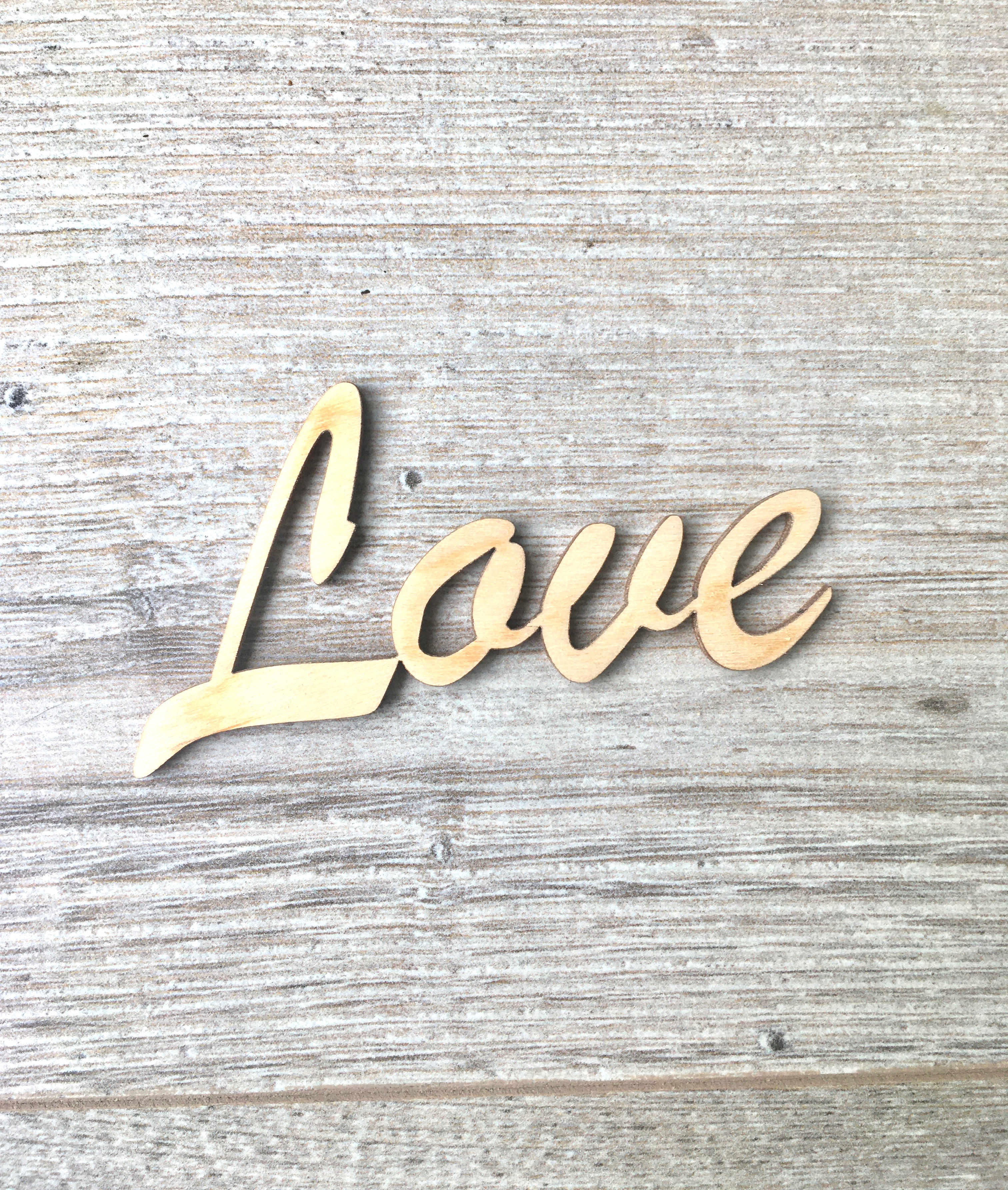 Wooden Words for Hearts