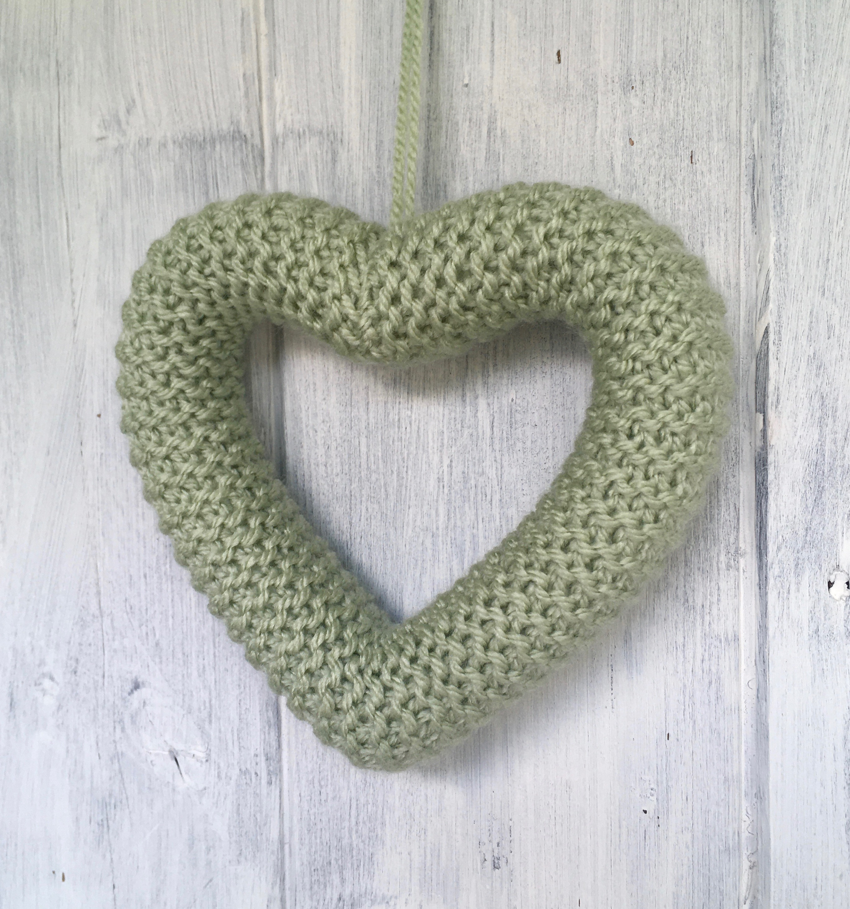 Plain Knitted Heart in choice of colours