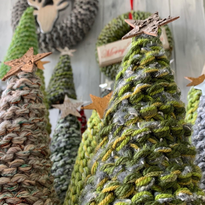 Medium Knitted Christmas Trees
