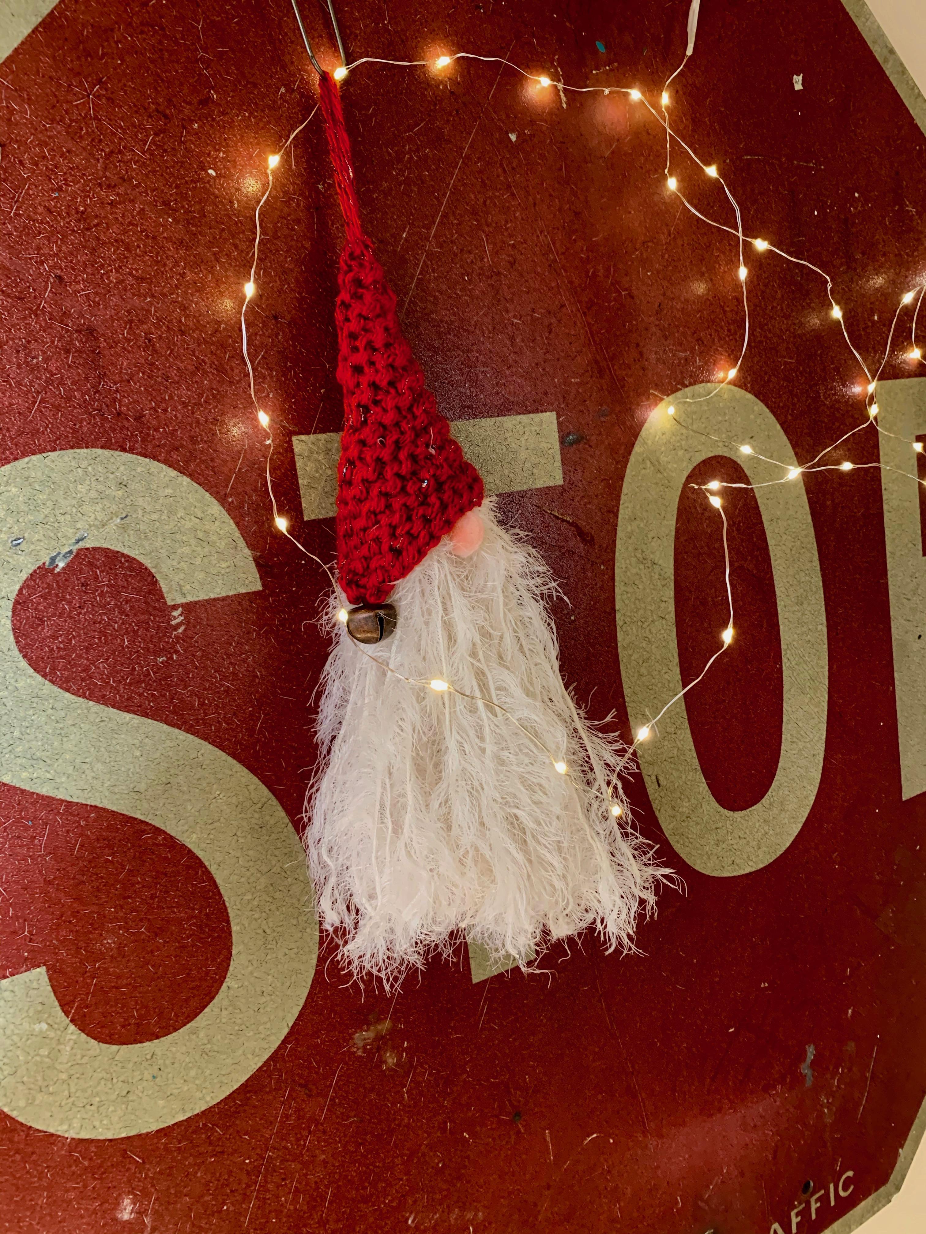 Knitted Santa Head Decoration