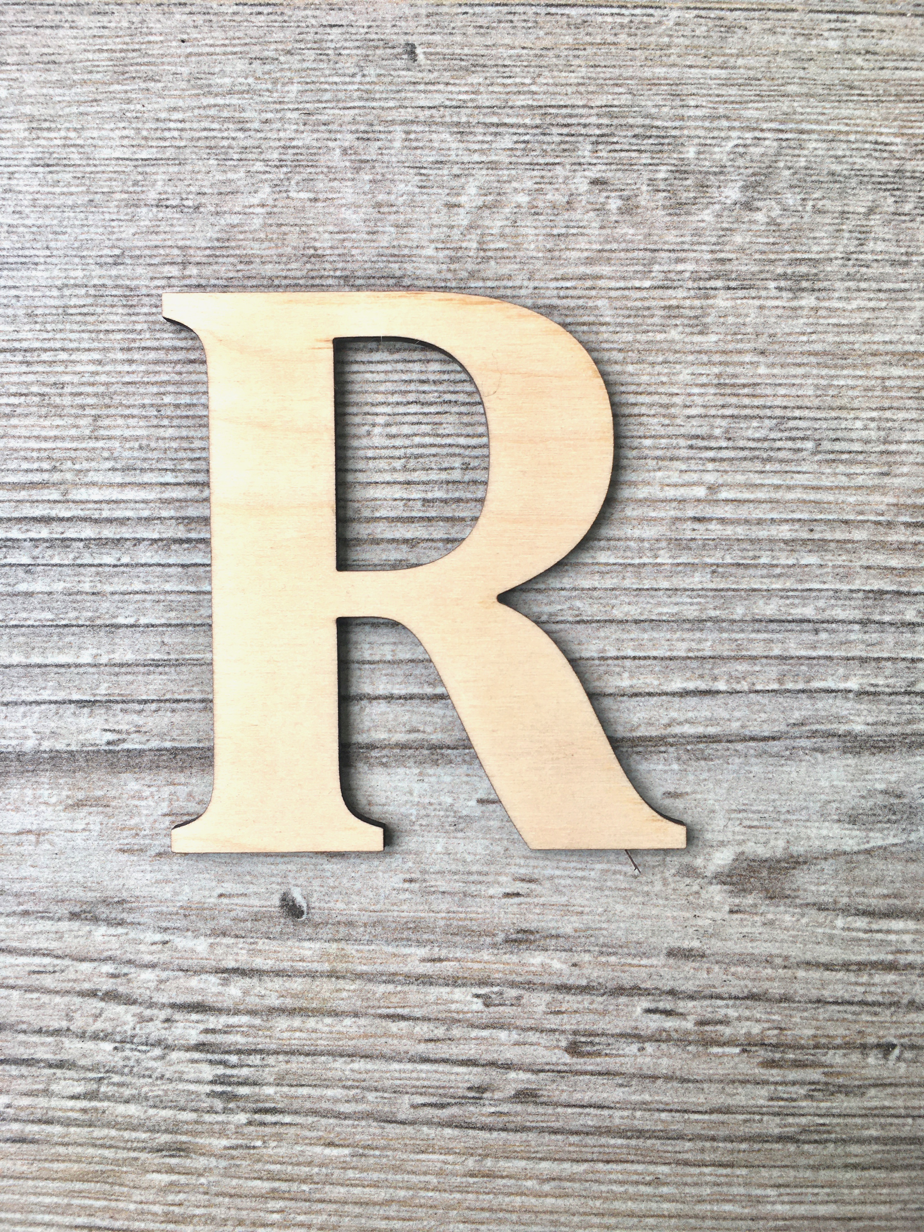 Wooden Letters for Hearts
