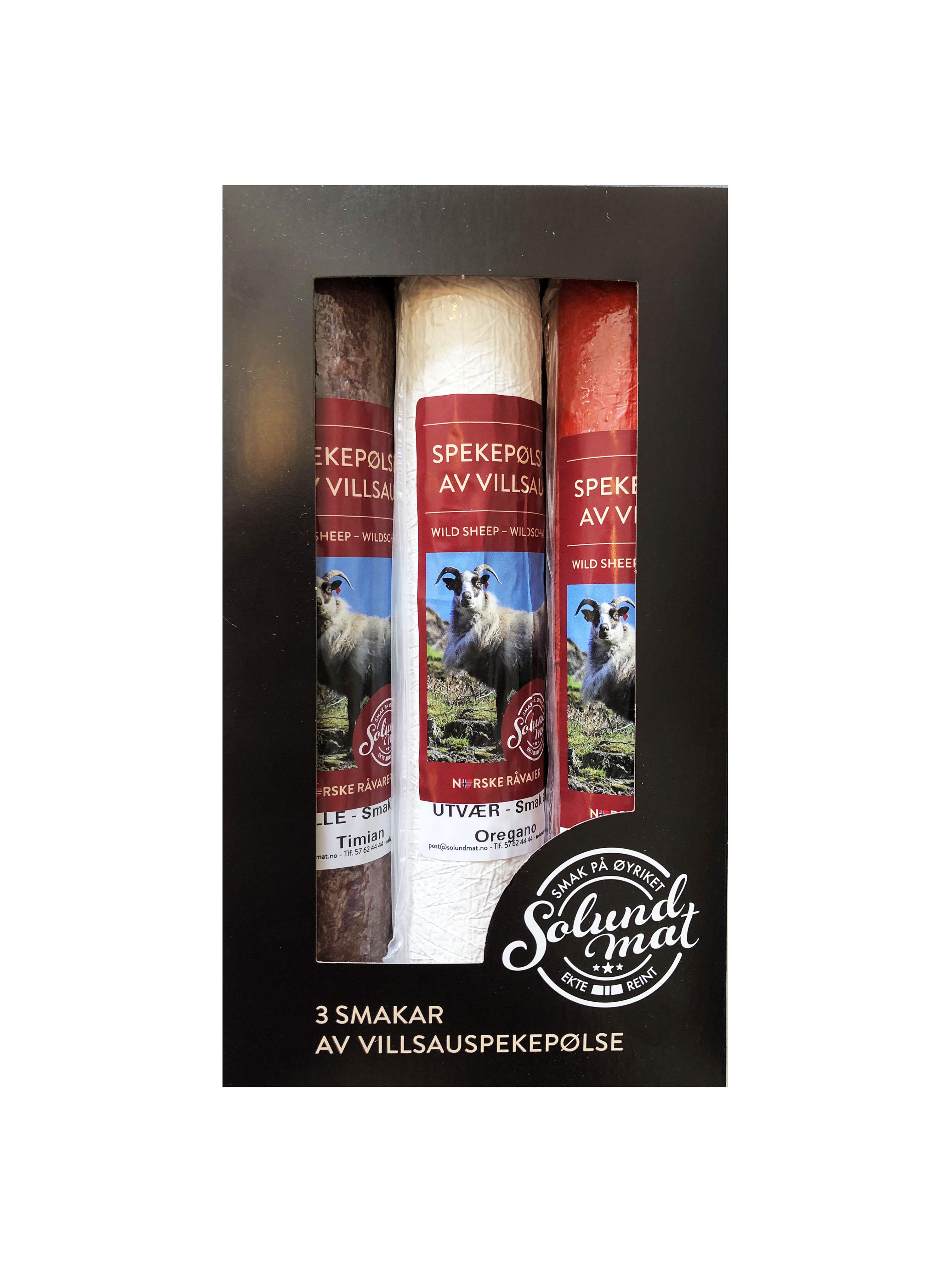 Gavepakke med Villsau Spekepølse