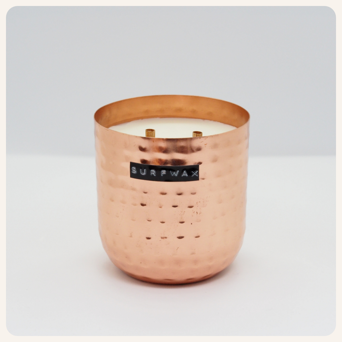 Surfwax Original Hammered Copper Candle.