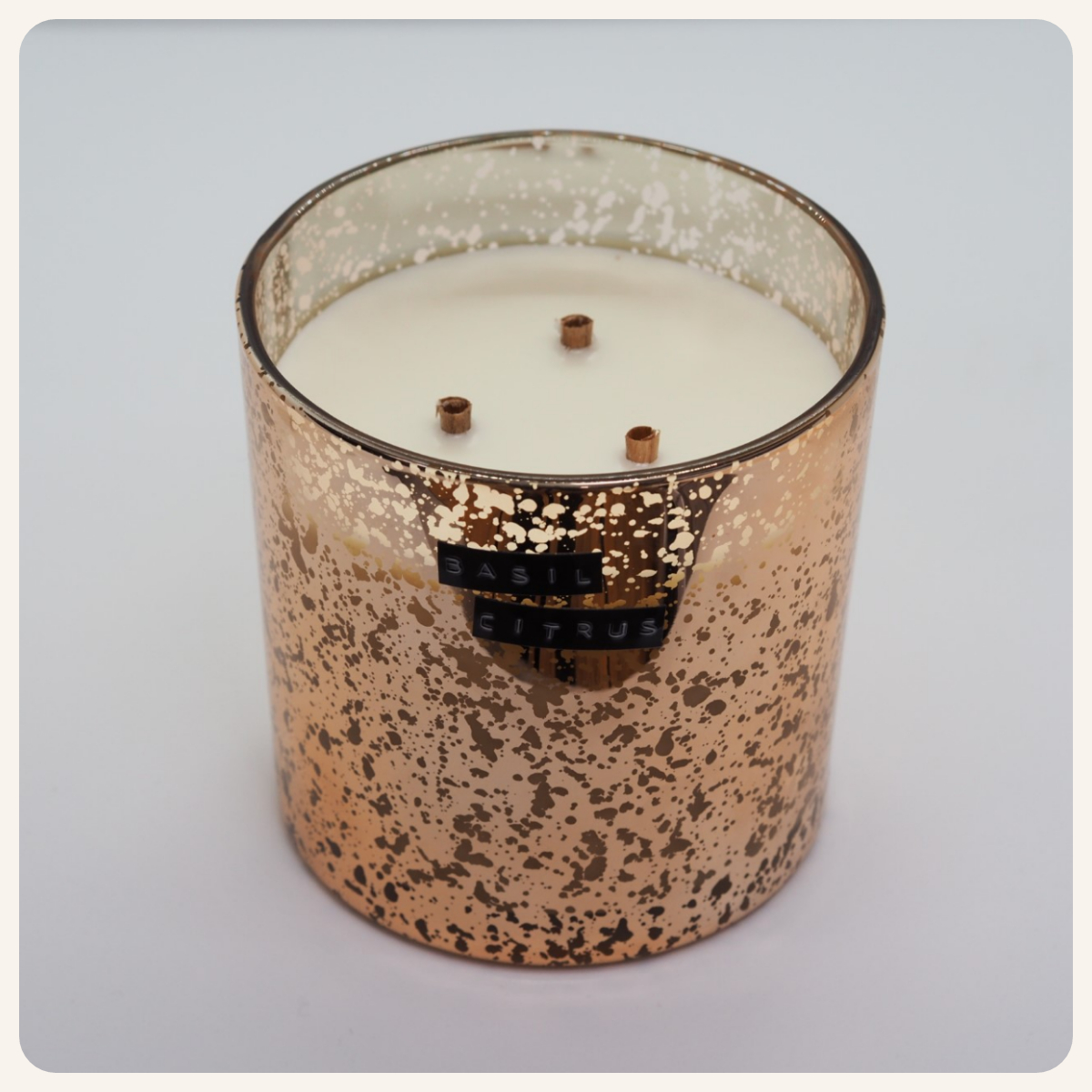 Basil Citrus Copper Coffee Table Candle.