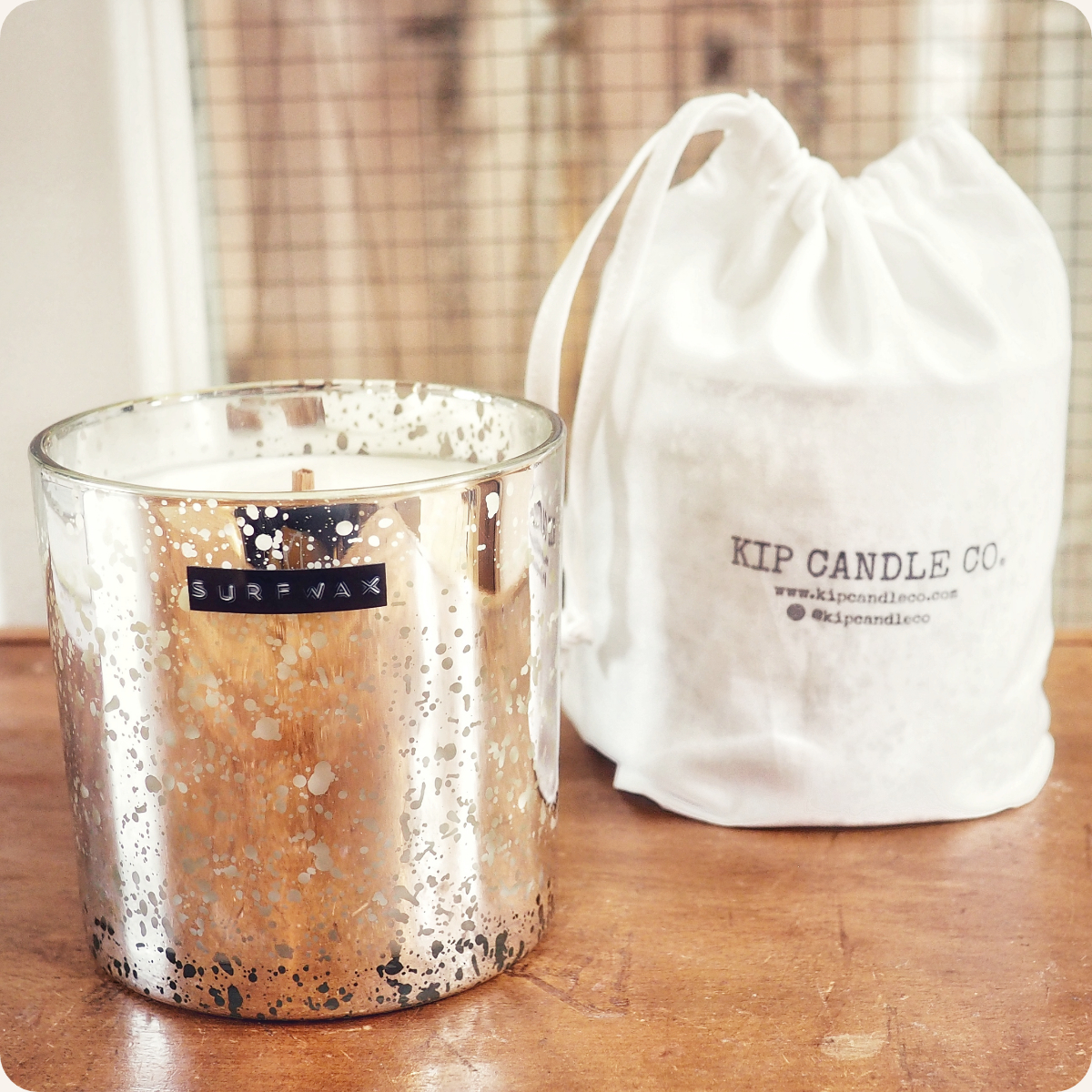 Surfwax Gold Coffee Table Candle.