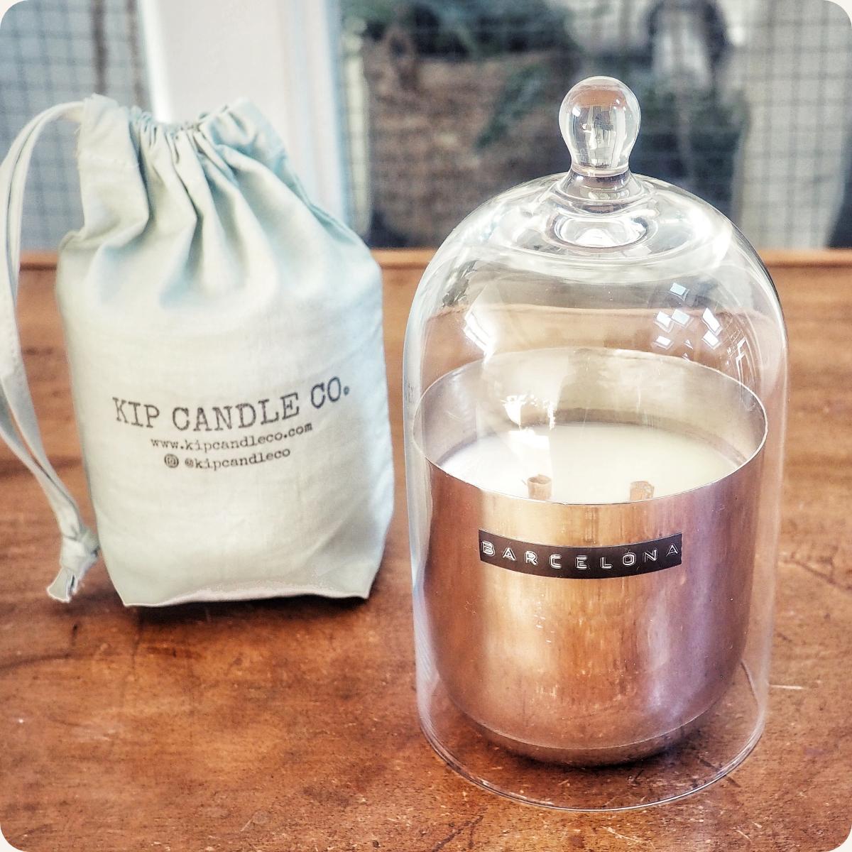 Barcelona Original Silver Candle & Bell Jar Bundle.