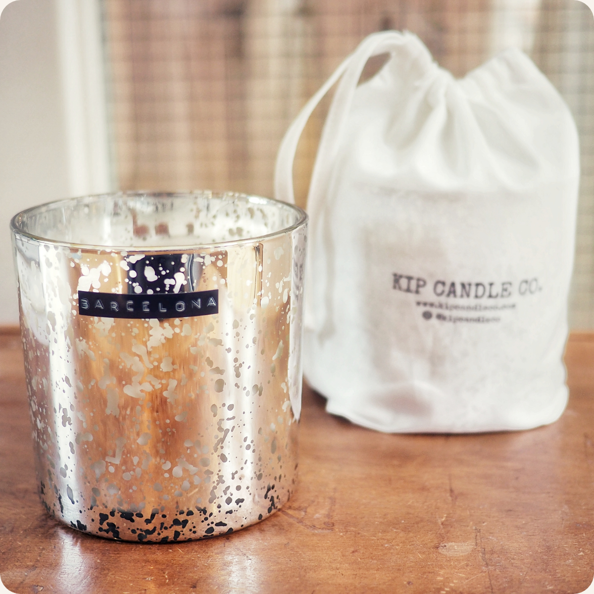 Barcelona Silver Coffee Table Candle.