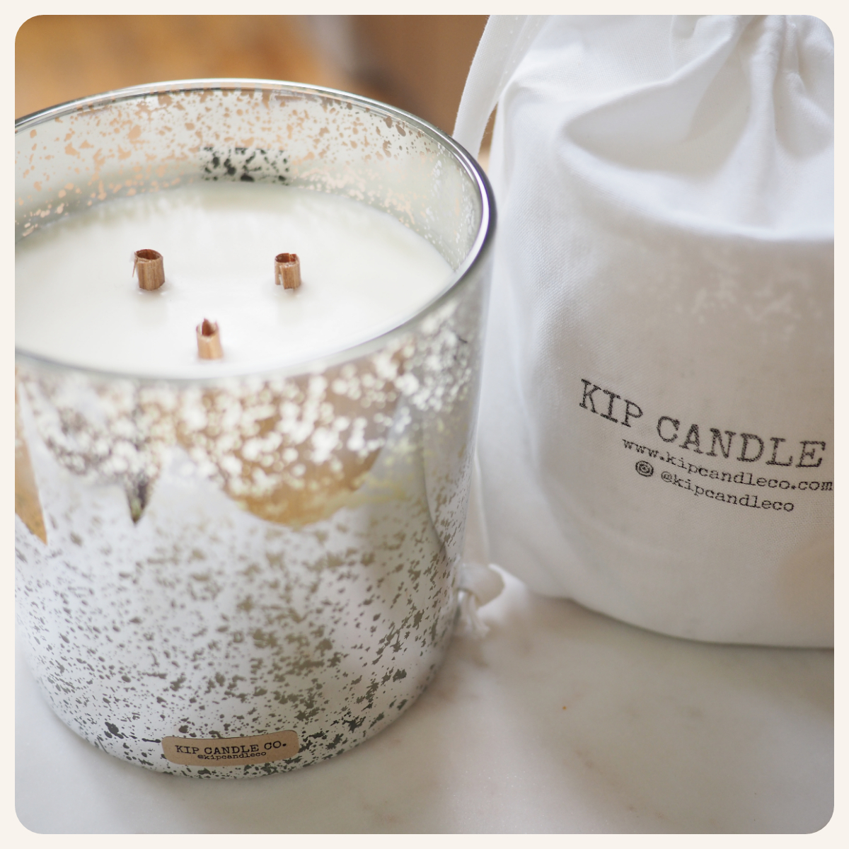 Surfwax Silver Coffee Table Candle.