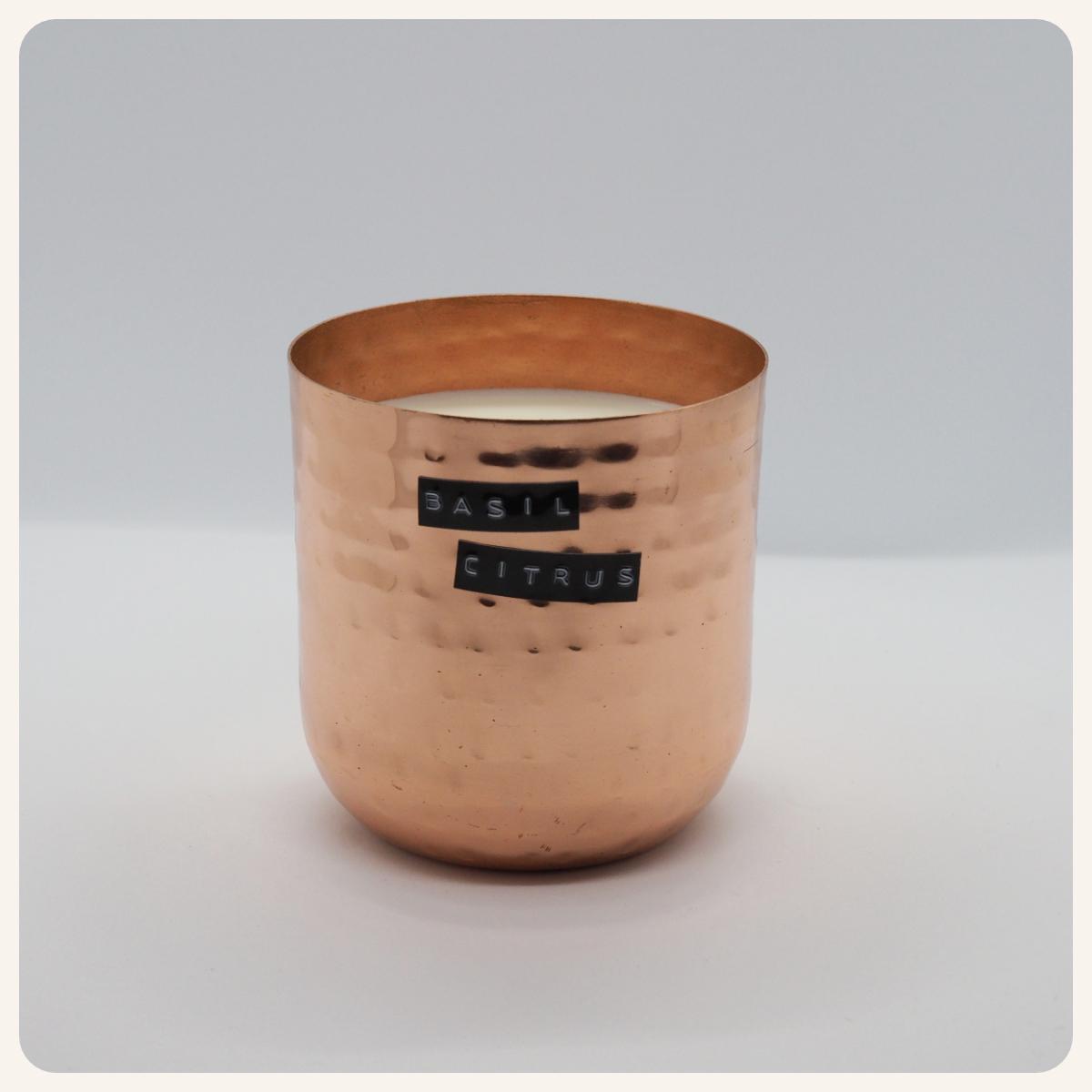 Basil Citrus Original Hammered Copper & Bell Jar Bundle.