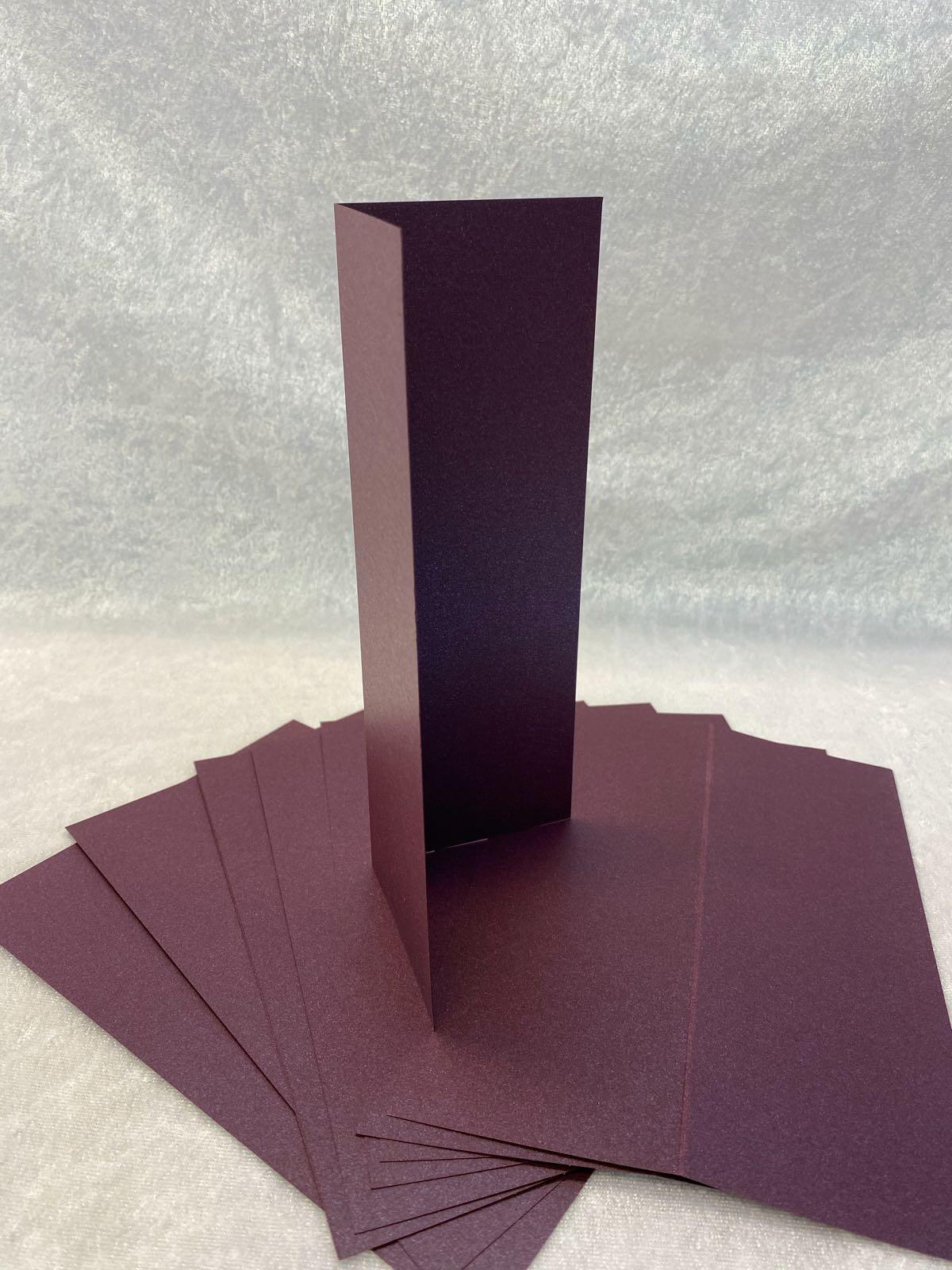 Slimcard base shimmer lilla/ aubergine. 10 stk. TILBUDSPRIS: kun kr 25,- pr pk.
