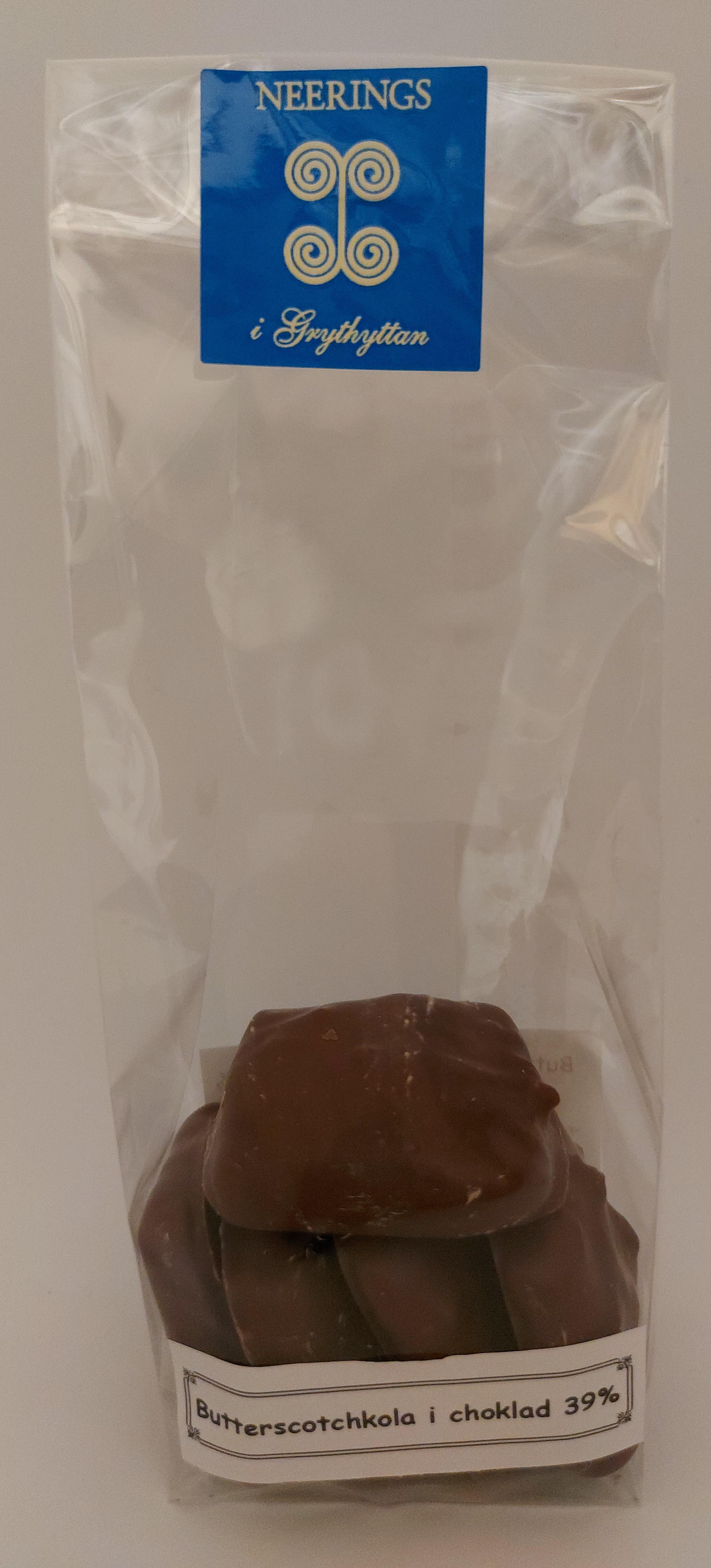 Butterscotchkola i choklad 39%