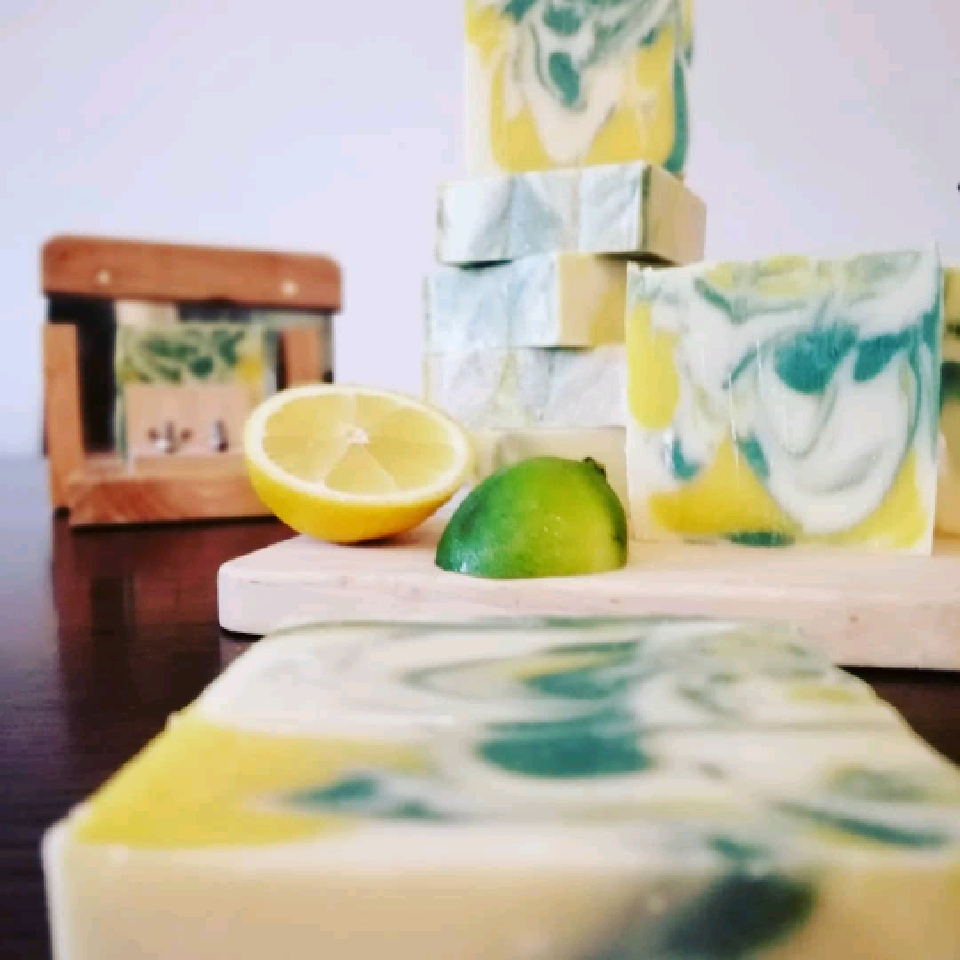 Lemon Lime Sublime - Cold pressed soap