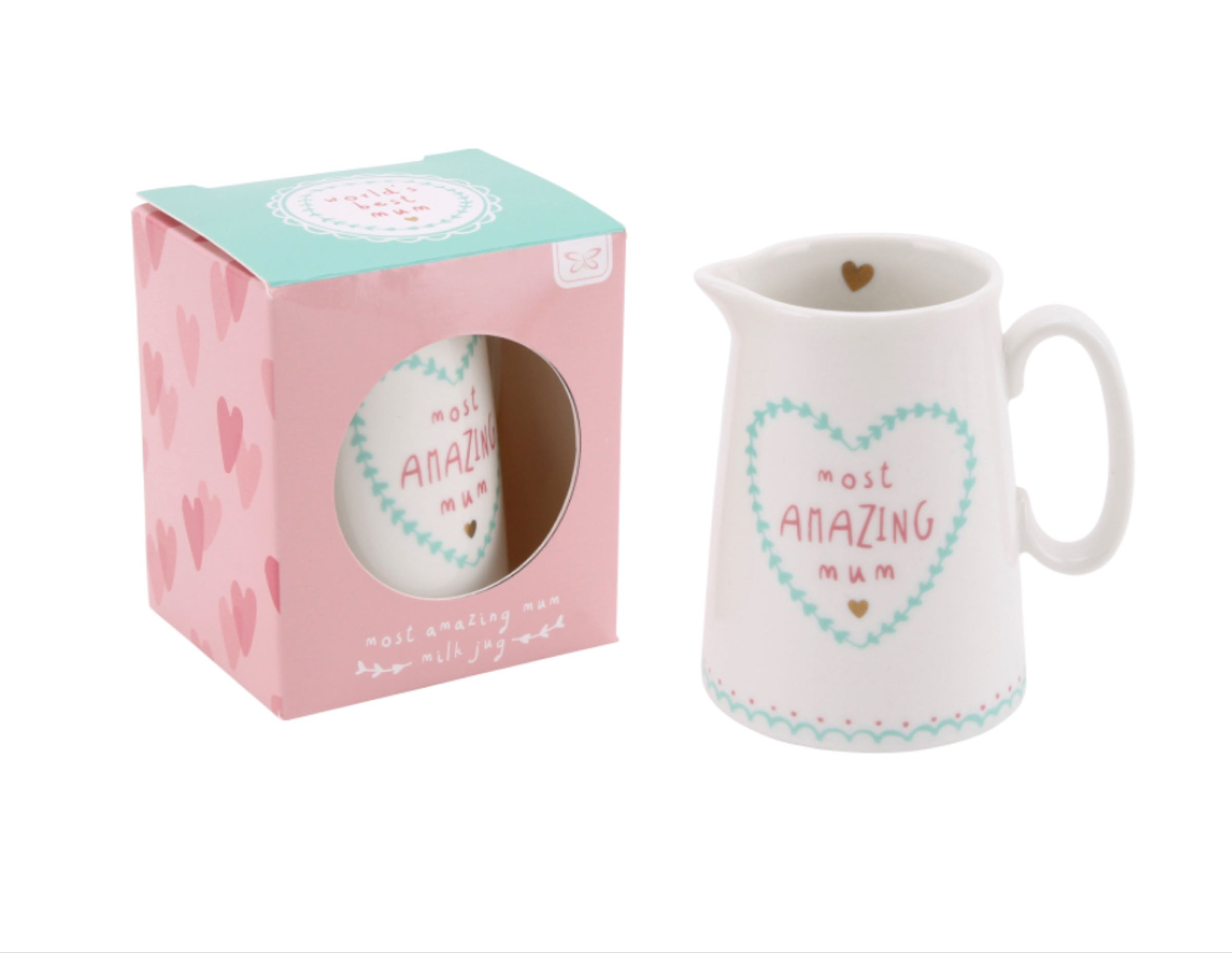 'Most Amazing Mum' Milk Jug 8cmx10cmx5.5cm