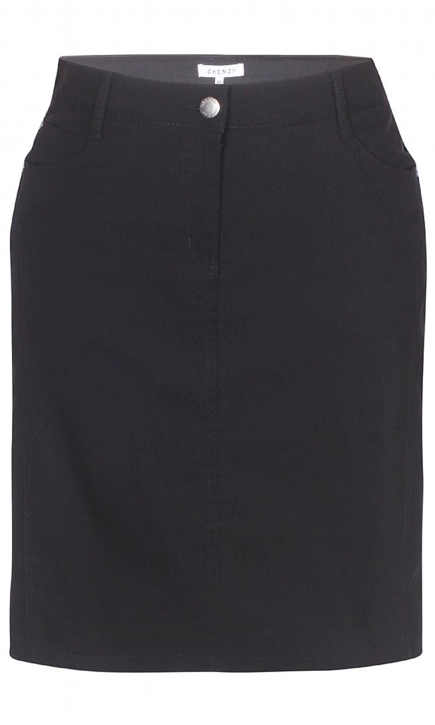 Kjol med innerbyxa, svart