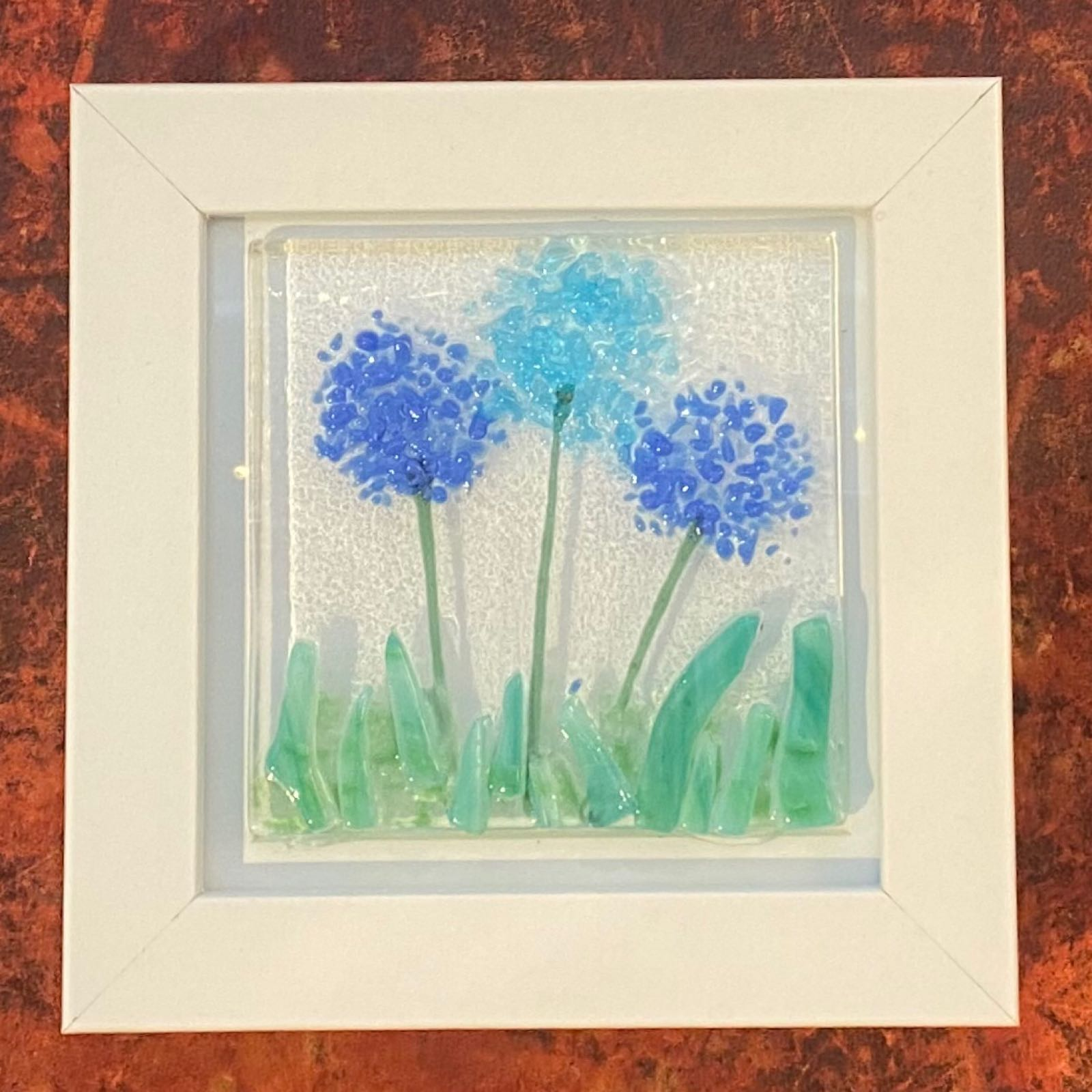 Alliums Picture - Box Framed 12x12cm