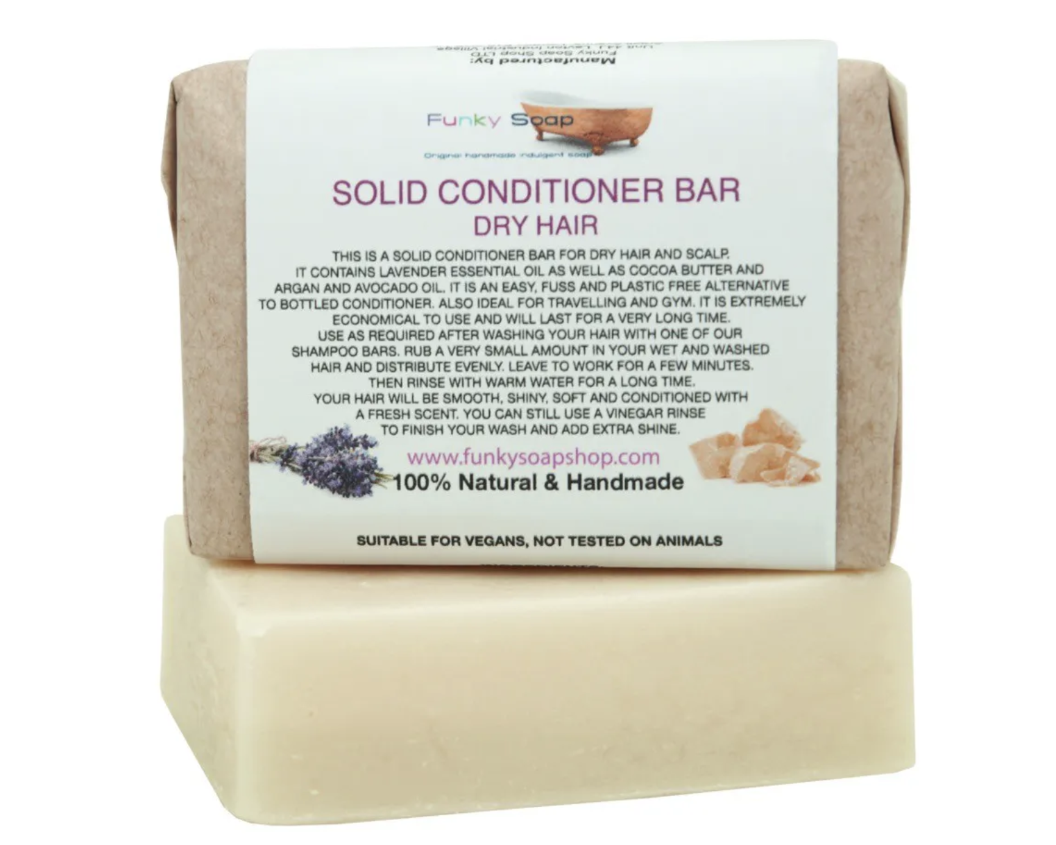 Dry Hair Solid Conditioner Bar 95G (Funky Soap Shop)