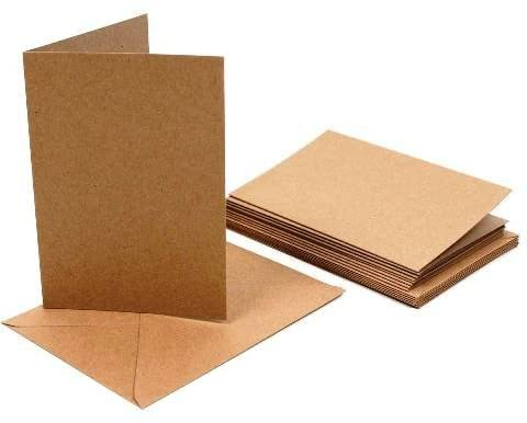 Singlefold Card A6 Brown Kraft + Envelope
