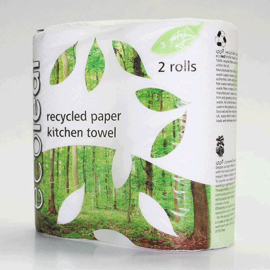 Ecoleaf Kitchen Towels (2 rolls)