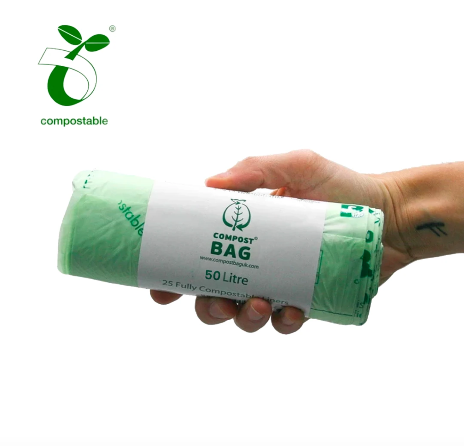50L Bin Liners (Compostable Biodegradable)