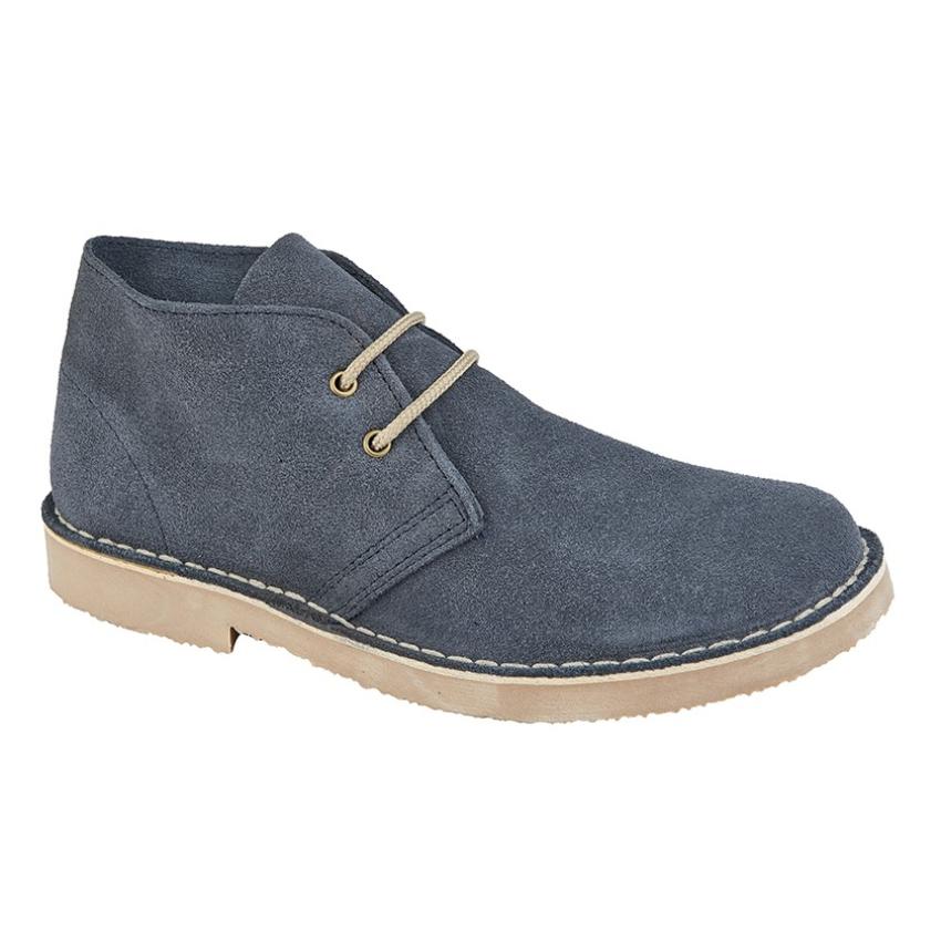 Gents Roamers 2 Eye Navy Suede Desert Boots Size 9