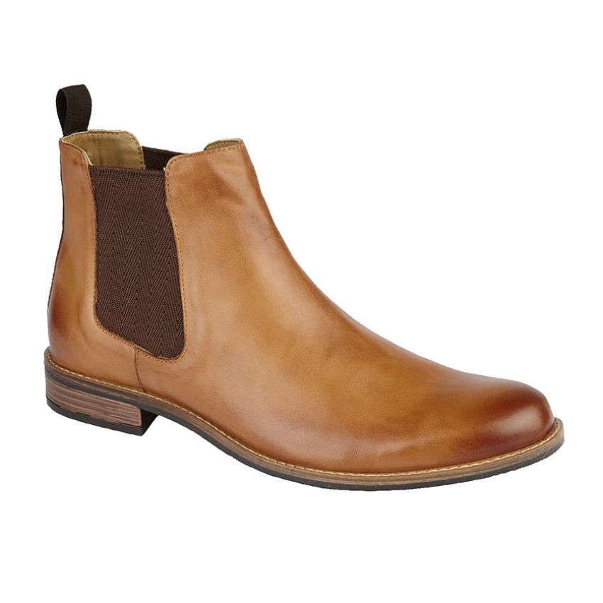 Gents Roamers Tan Leather Boots (9)