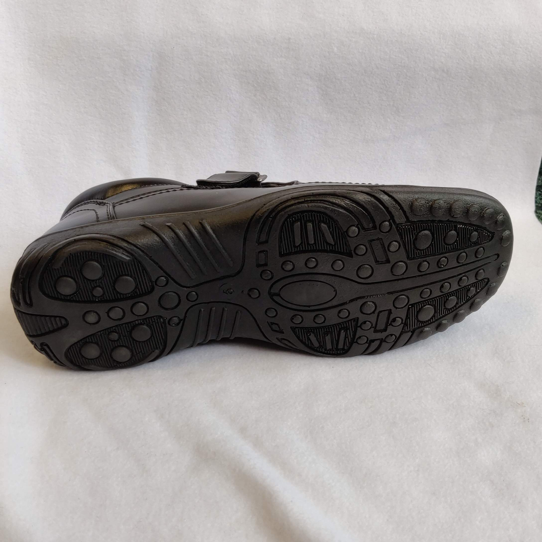 Gents Gordini Black Leather Closed Toe Sandal (9)