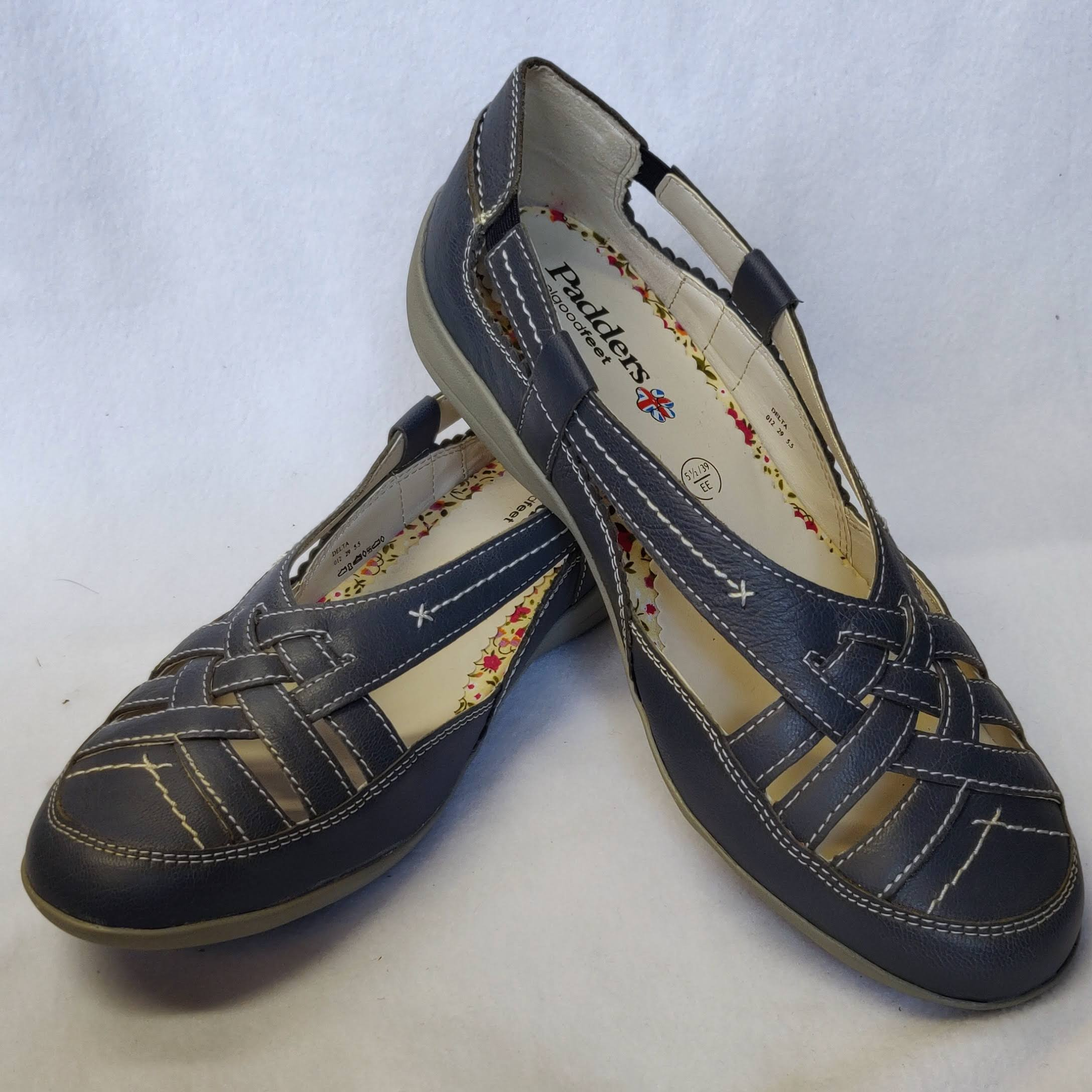 Ladies Padders Delta Blue Sandals Size 5.5/6.5