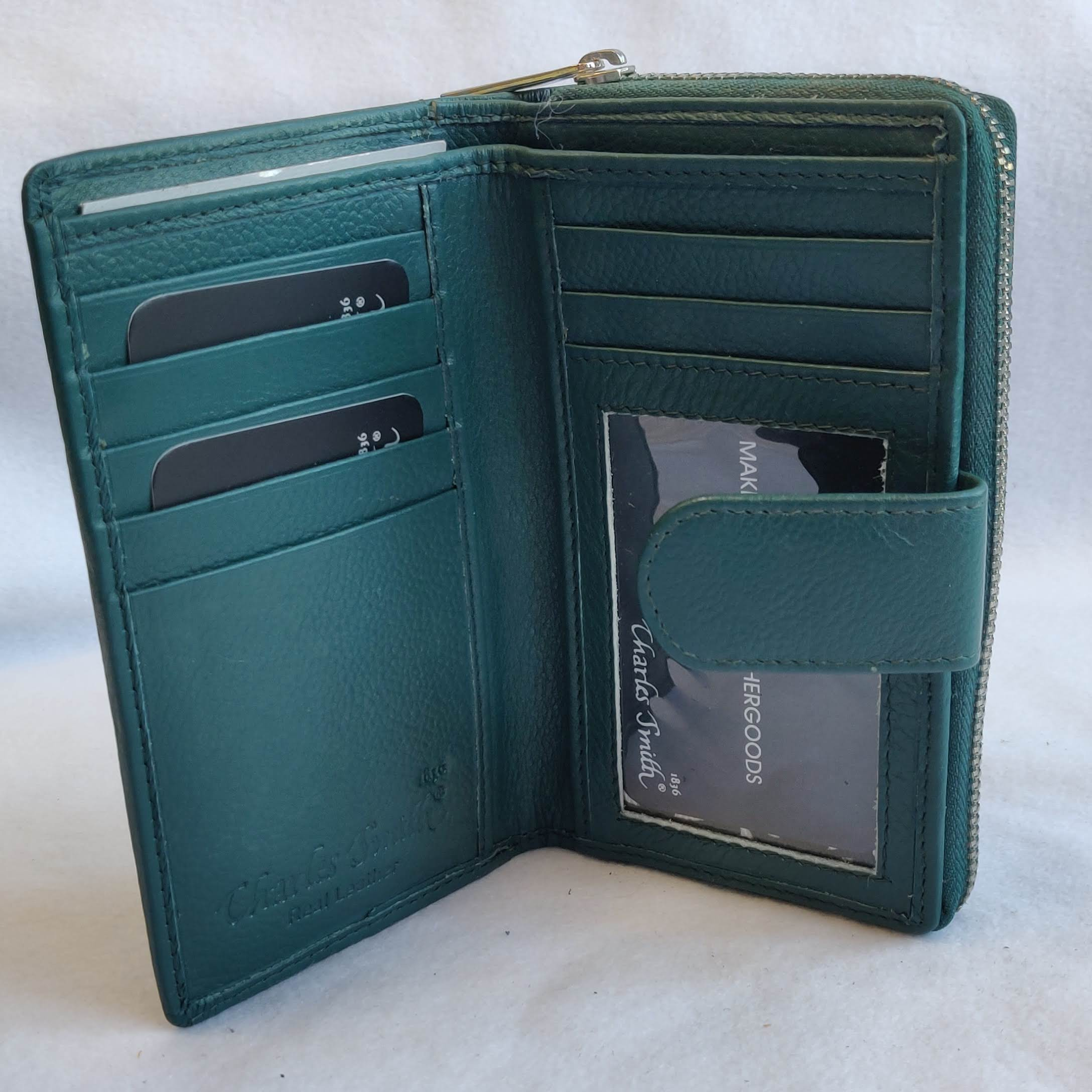 Ladies leather Purse Emerald Green 603612DM