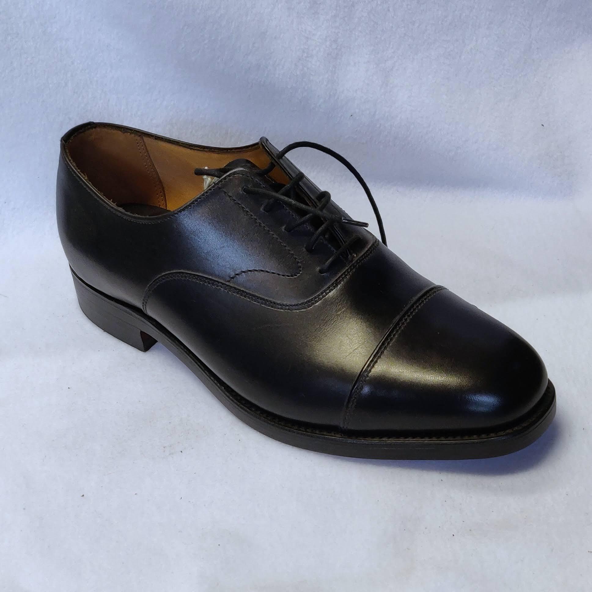 Gents Alfreds Oakham Black Oxfords Size 7.5