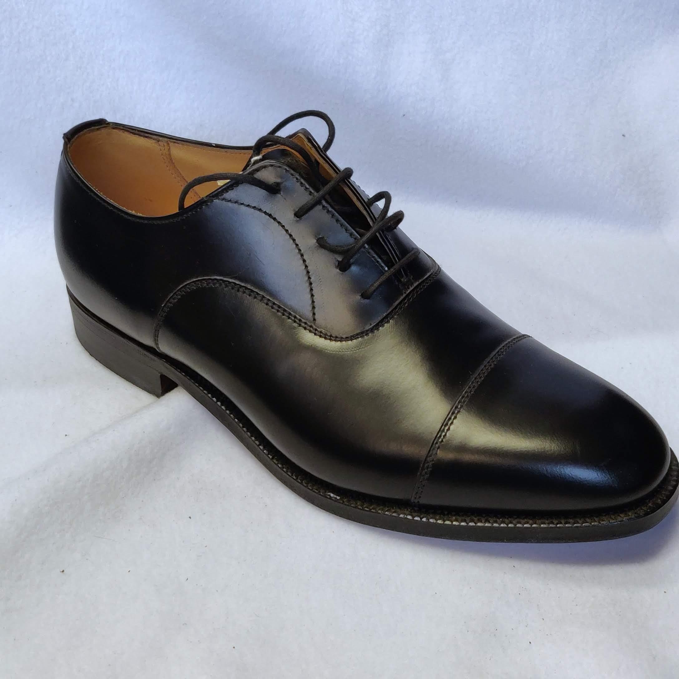 Gents Alfreds Epsom Black Oxfords Size 7.5
