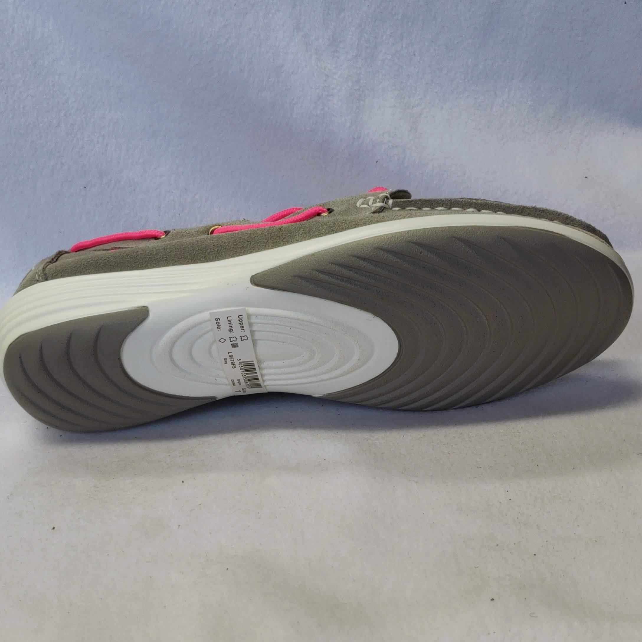 Ladies Boulevard Grey Summer Shoes Size 7 L95795FS