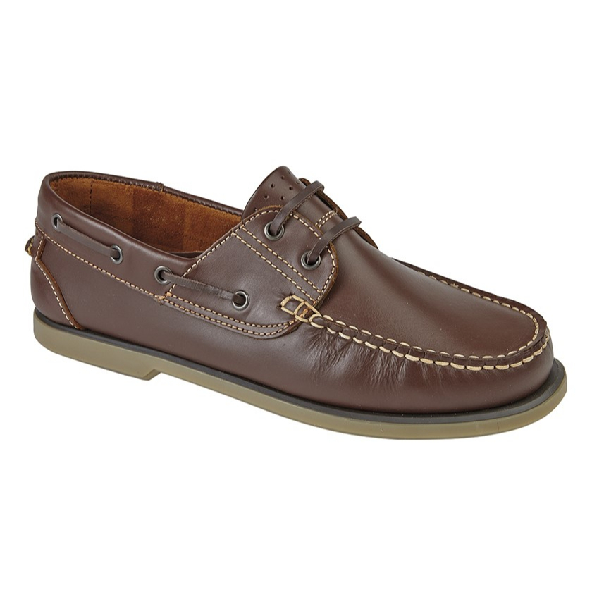 Dek Brown Leather Boat Shoes