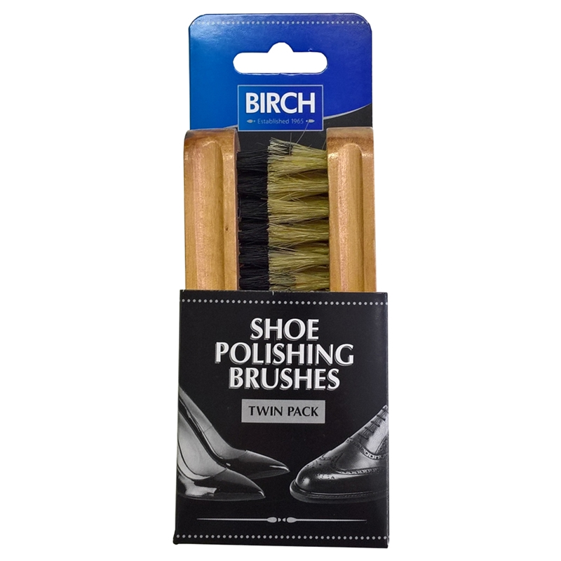 BIRCH Twin Pack Shoe Brush