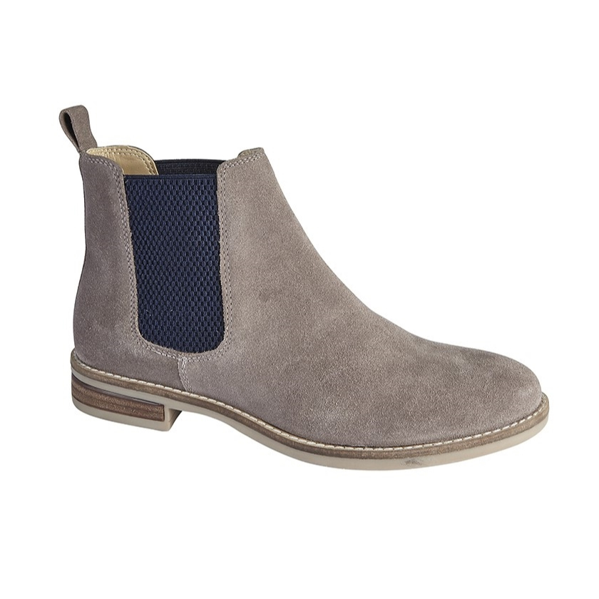 Ladies Suede Gusset Ankle Boot
