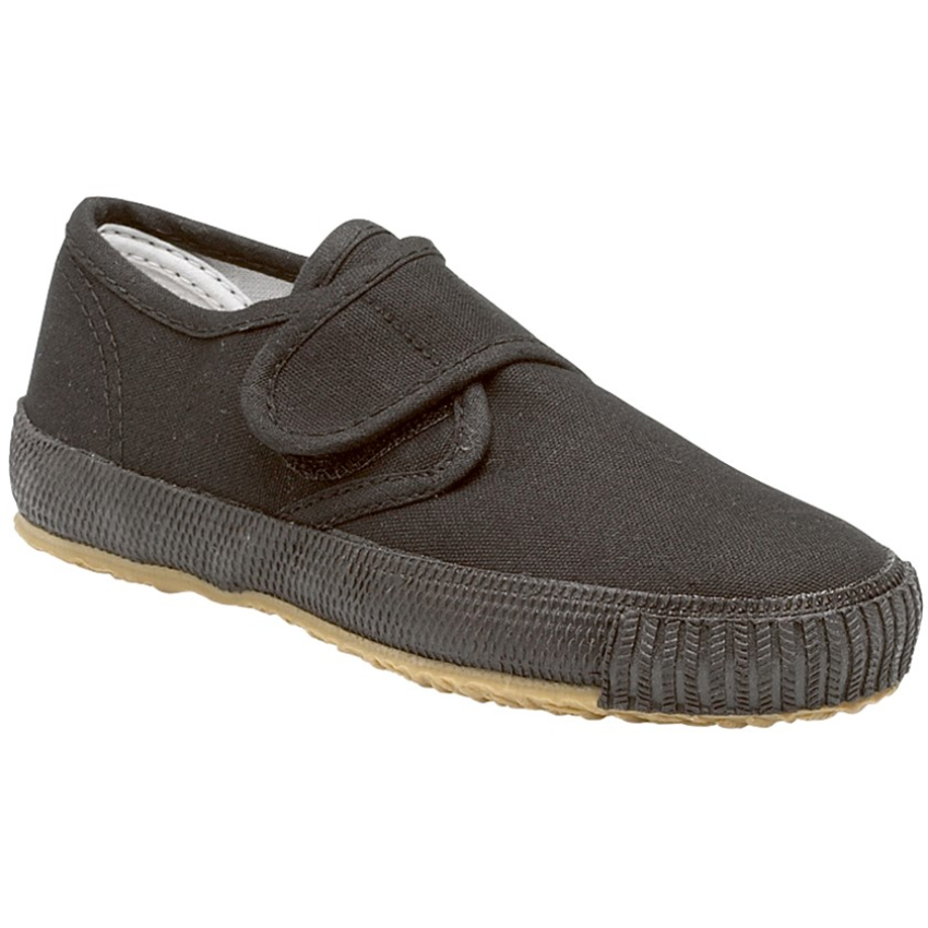 Kids Black Plimsoles