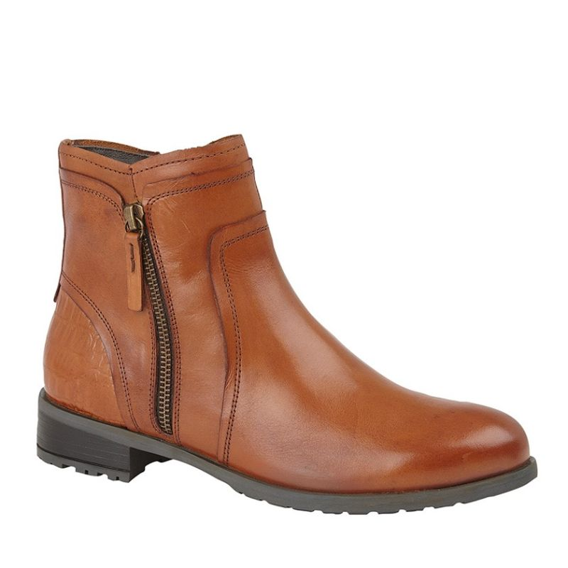 Cipriata Ladies Tan Leather Ankle Boots