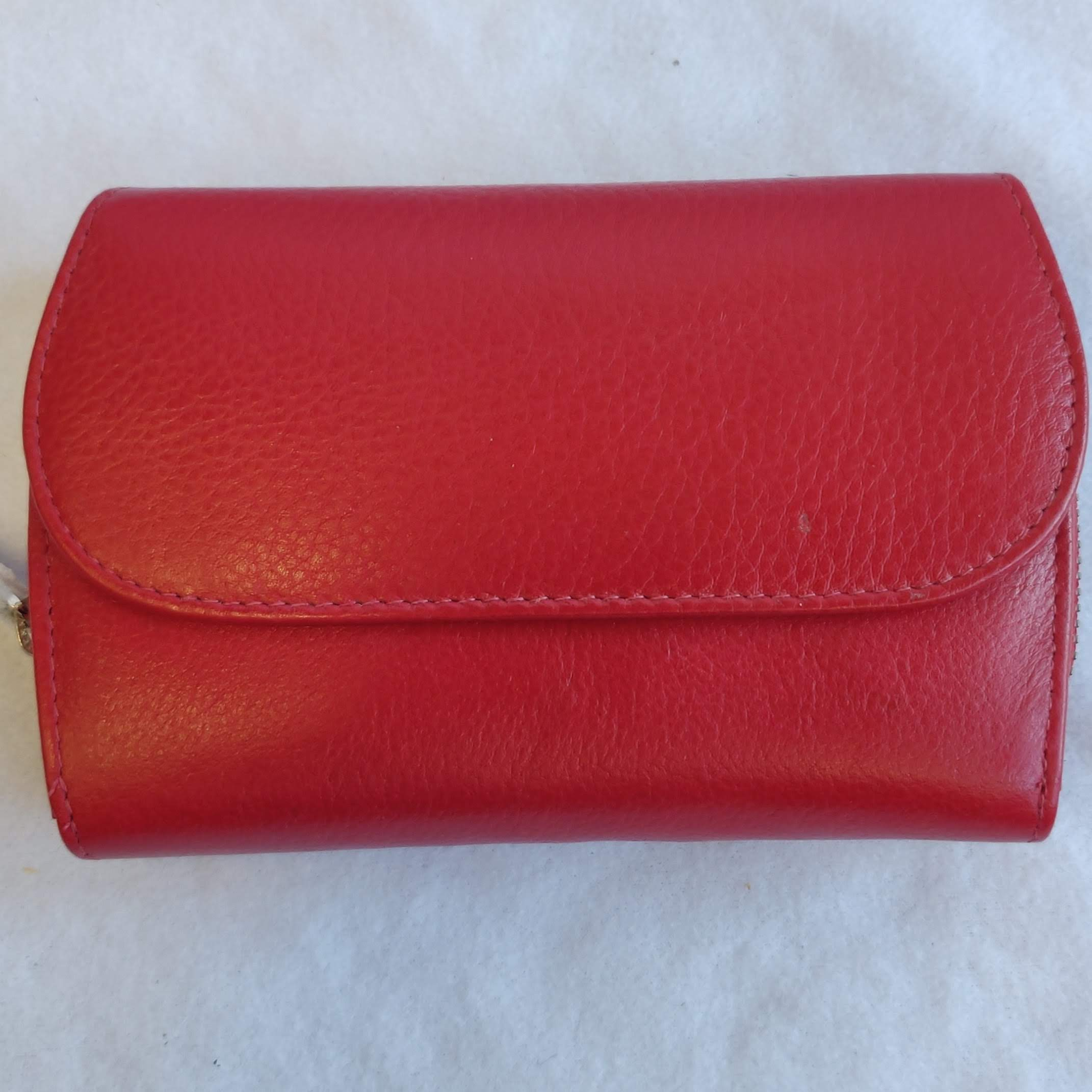 Ladies Leather Purse Red 603250