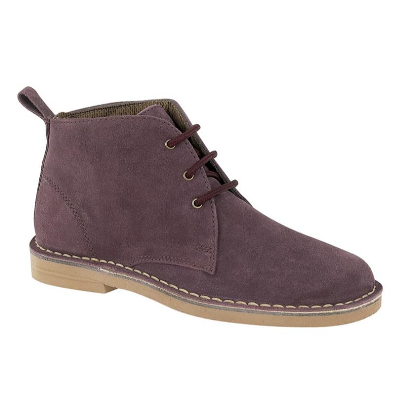 Ladies Roamers 3 Eyelet Suede Desert Boots