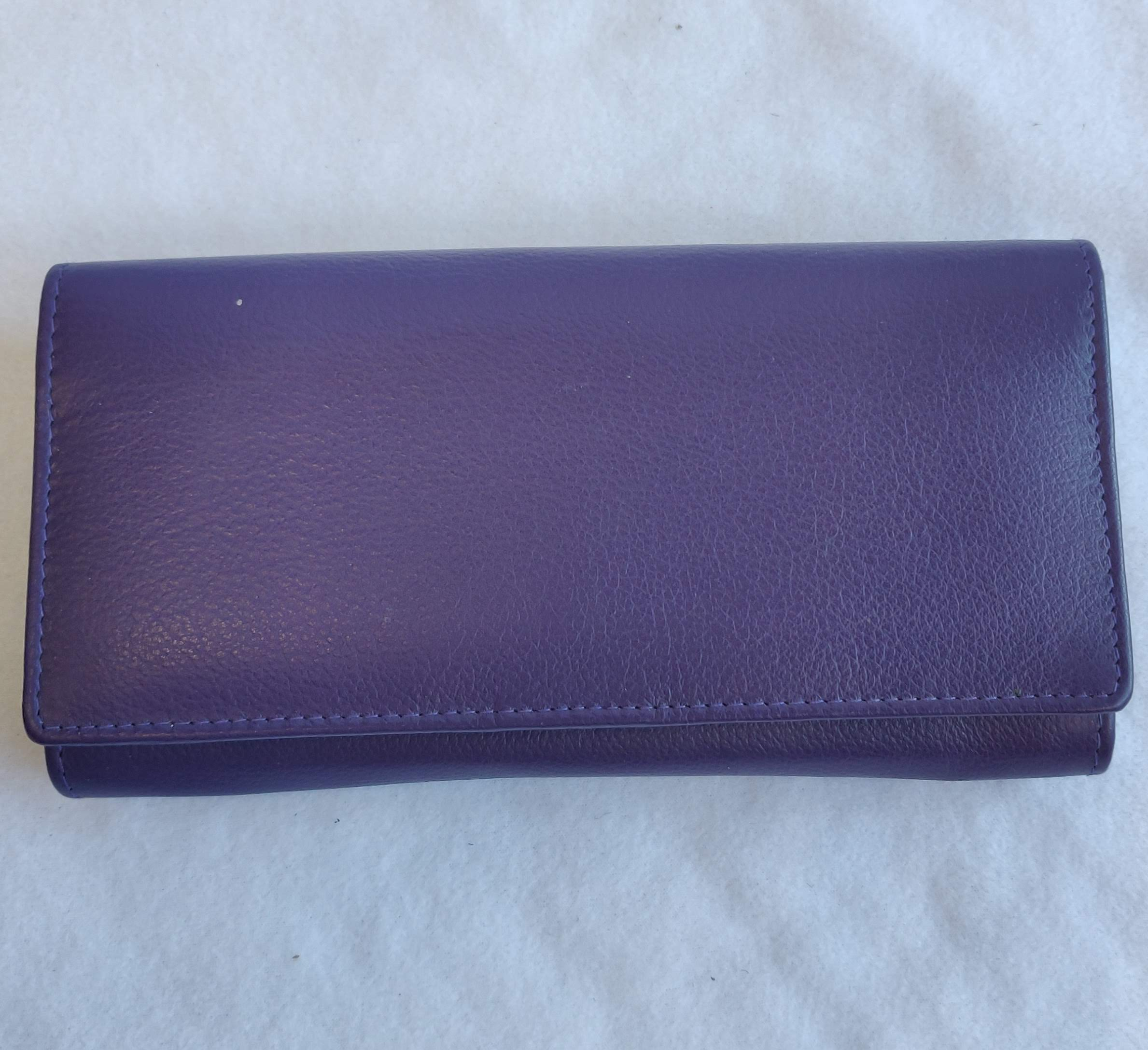 Ladies Leather Purse Purple 603264