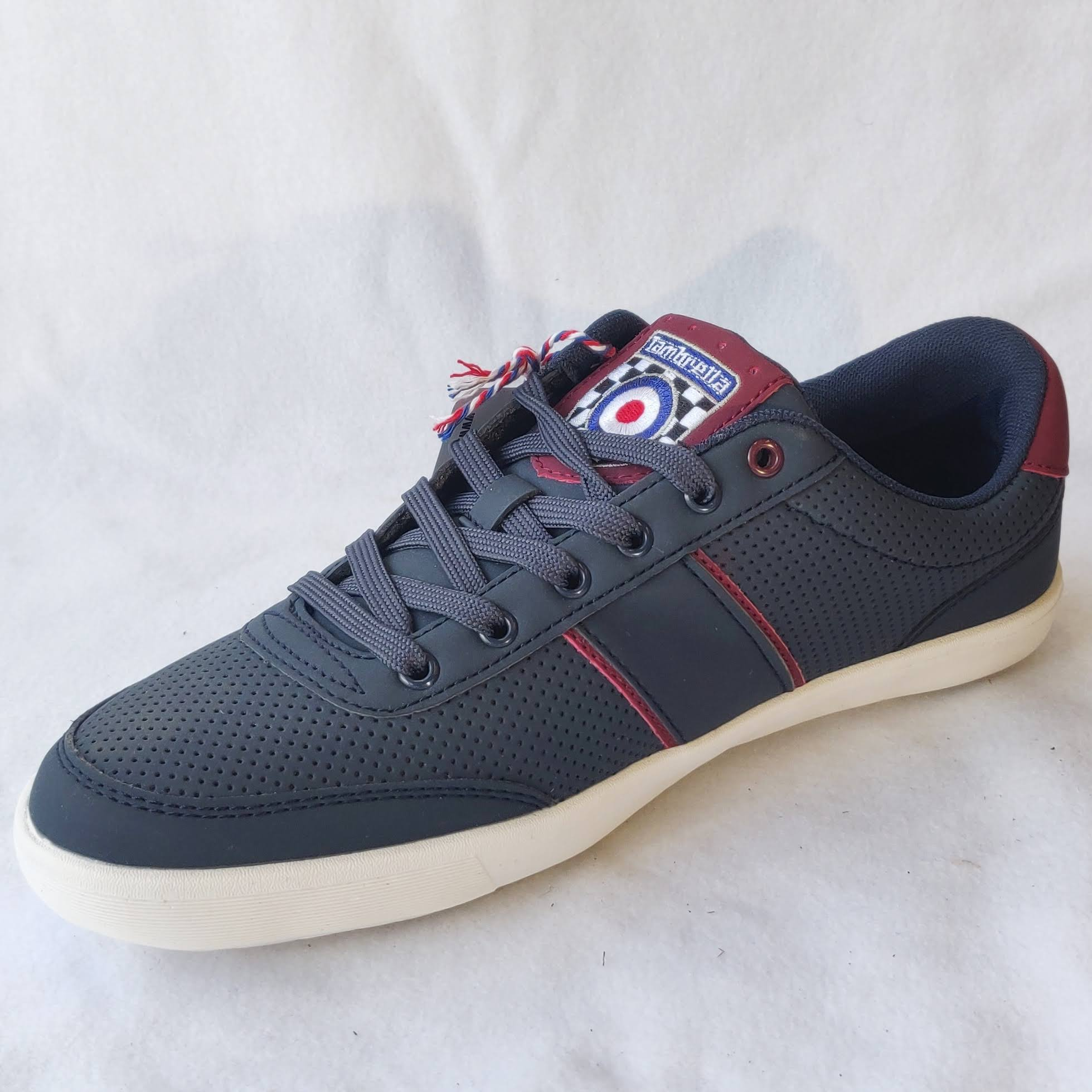 Lambretta Mens Navy Trainers