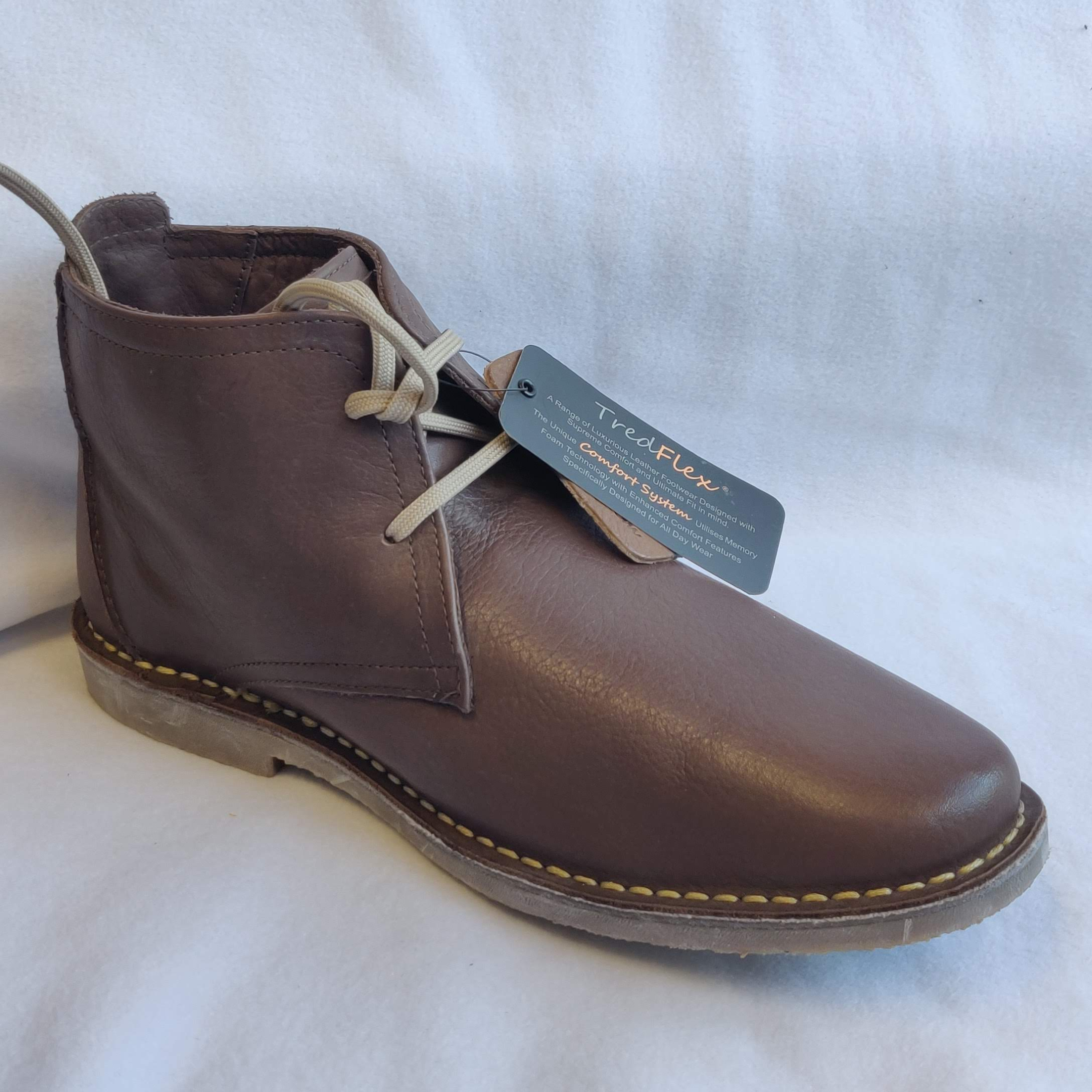 Gents TredFlex Brown Soft Leather Boot (10)