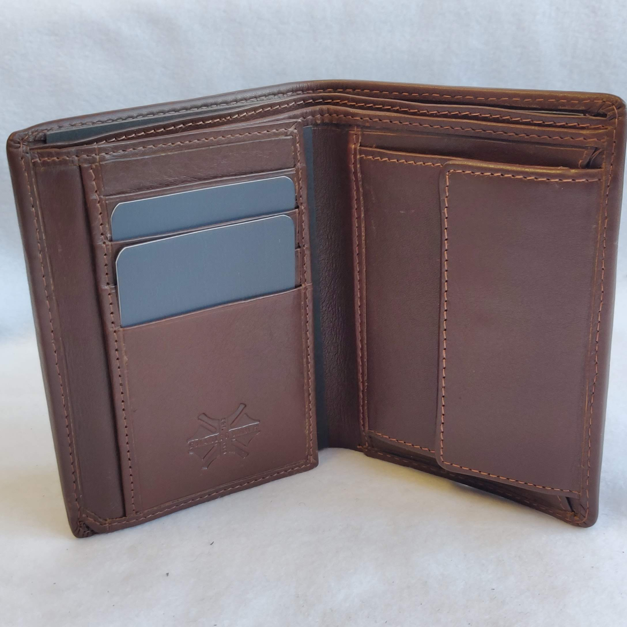 Mens Leather Brown Wallet 1001