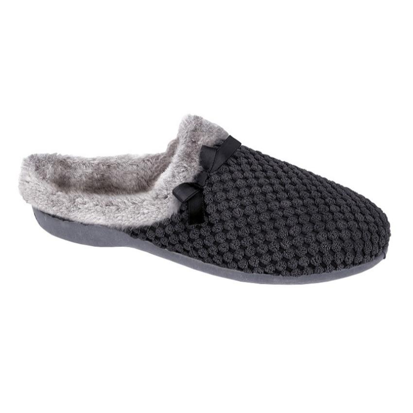 Kerri Black Slippers