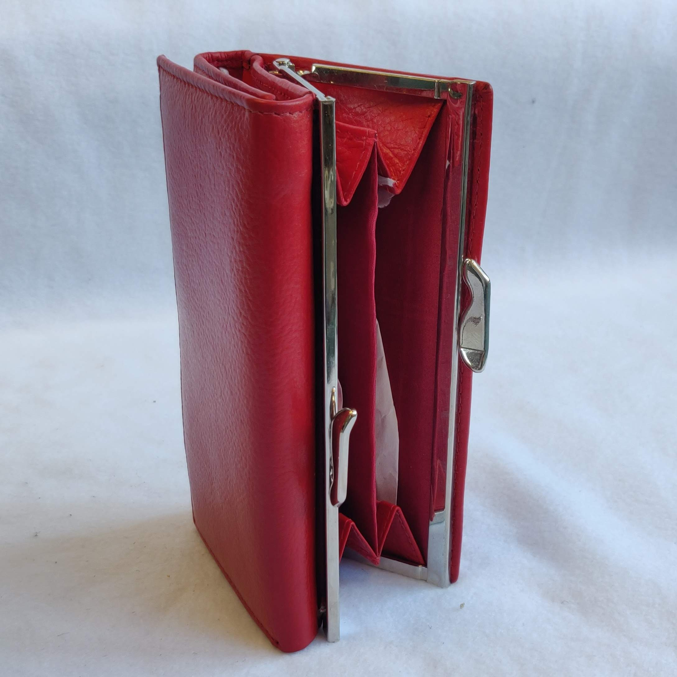 Ladies Leather Purse Red 303258