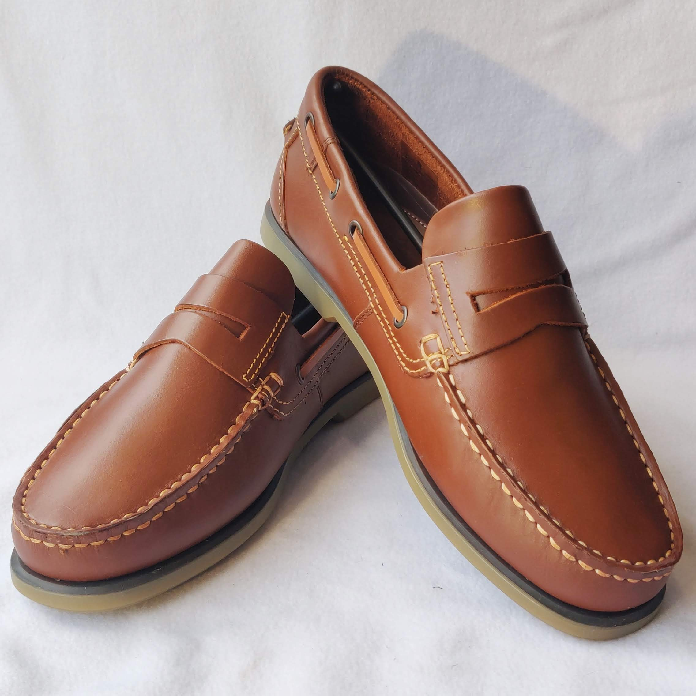 Dek Tan Leather Boat Shoes