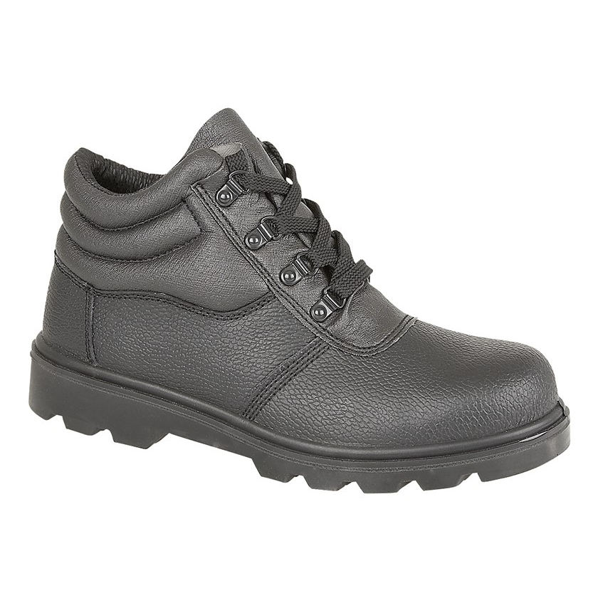 Gents Grafters Black Safety Steel Toe Boots Size 9