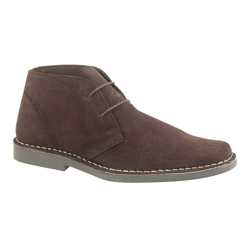 Gents Roamers 2 Eye Brown Suede Desert Boots Size 8