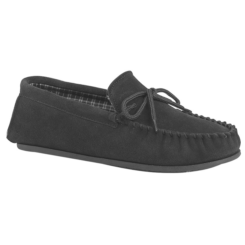 Mokkers Gents Black Suede Slippers